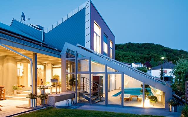 veranda con piscina